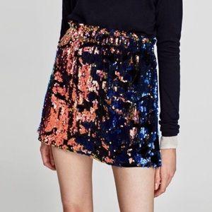 Zara Sequined Mini Skirt